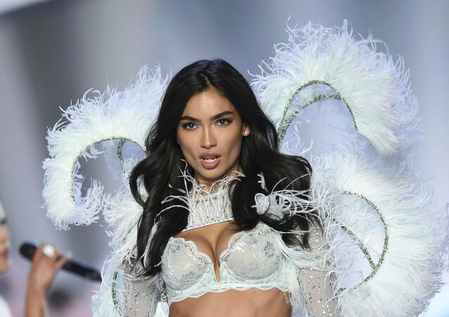Model Kelly Gale walks the runway during the 2018 Victoria's Secret Fashion Show at Pier 94 on 8 November 2018 in New York