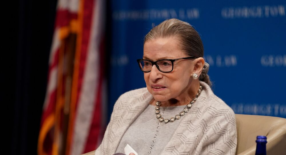 U.S. Supreme Court Justice Ruth Bader Ginsburg participates in a discussion hosted by the Georgetown University Law Center in Washington, D.C., U.S., September 12, 2019