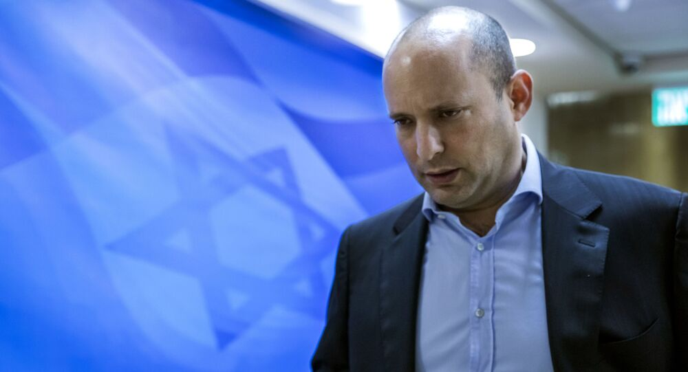 Israeli Minister of Education Naftali Bennett, who is also the  leader of the religious  Jewish Home party, arrives for the weekly cabinet meeting in Jerusalem, Sunday, Feb. 4, 2018
