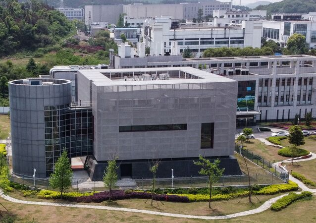 (FILES) This file photo taken on April 17, 2020 shows an aerial view of the P4 laboratory at the Wuhan Institute of Virology in Wuhan in China's central Hubei province