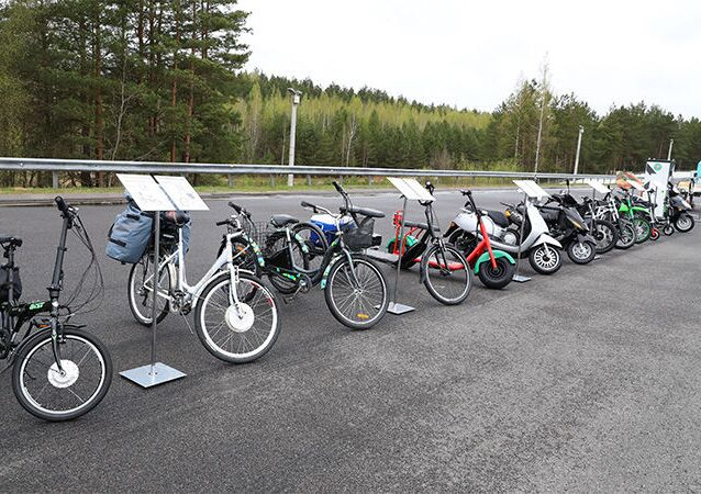 'Minsk' and other Belarusian-brand electric-powered bicycles and mopeds.