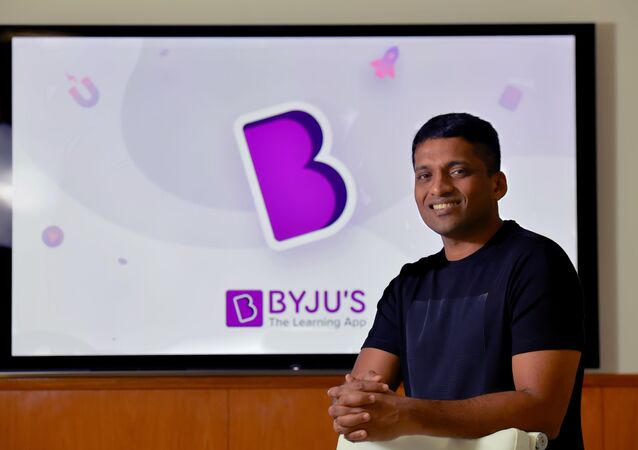 In this photo taken on January 10, 2019, Byju Raveendran, founder of Byju's, the Bangalore-based educational technology start-up, poses at the company's premises in Bangalore