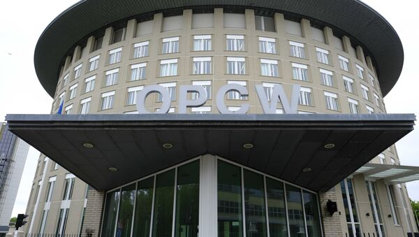FILE - This Friday May 5, 2017 file photo shows the headquarters of the Organisation for the Prohibition of Chemical Weapons (OPCW), The Hague, Netherlands - Sputnik International