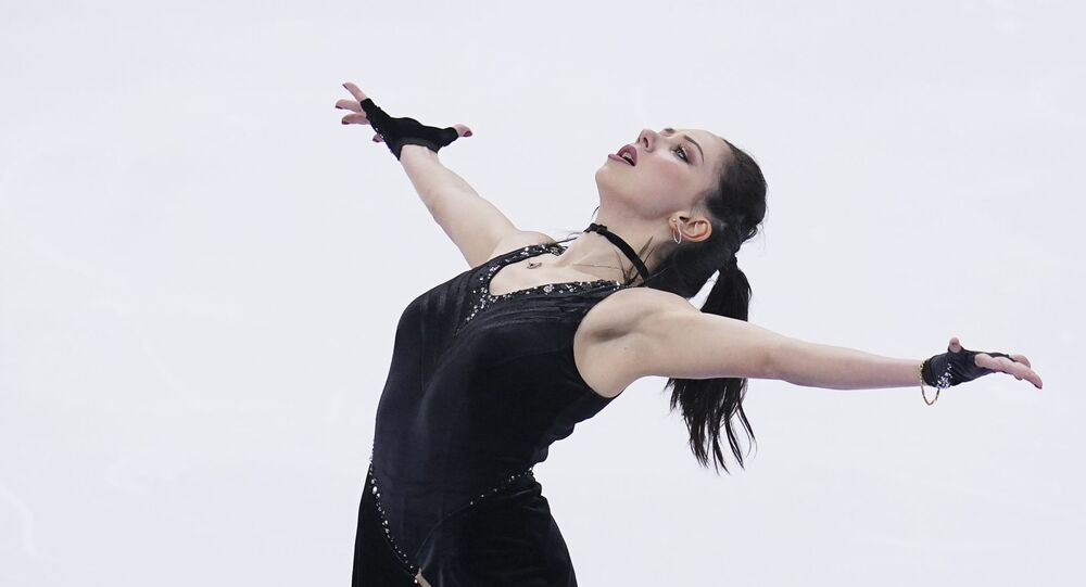 Russia's Elizaveta Tuktamysheva skates her short program in the women's competition at the Russian Figure Skating Championships, in Krasnoyarsk, Russia