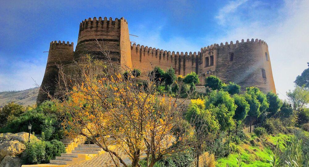 Falak-ol-Aflak or Shapur Khwast citadel in the city of Khorramabad, Lorestan province, Iran.