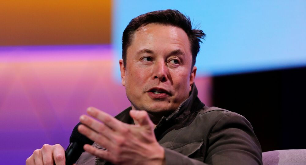 SpaceX owner and Tesla CEO Elon Musk gestures during a conversation with legendary game designer Todd Howard (not pictured) at the E3 gaming convention in Los Angeles, California, U.S., June 13, 2019.