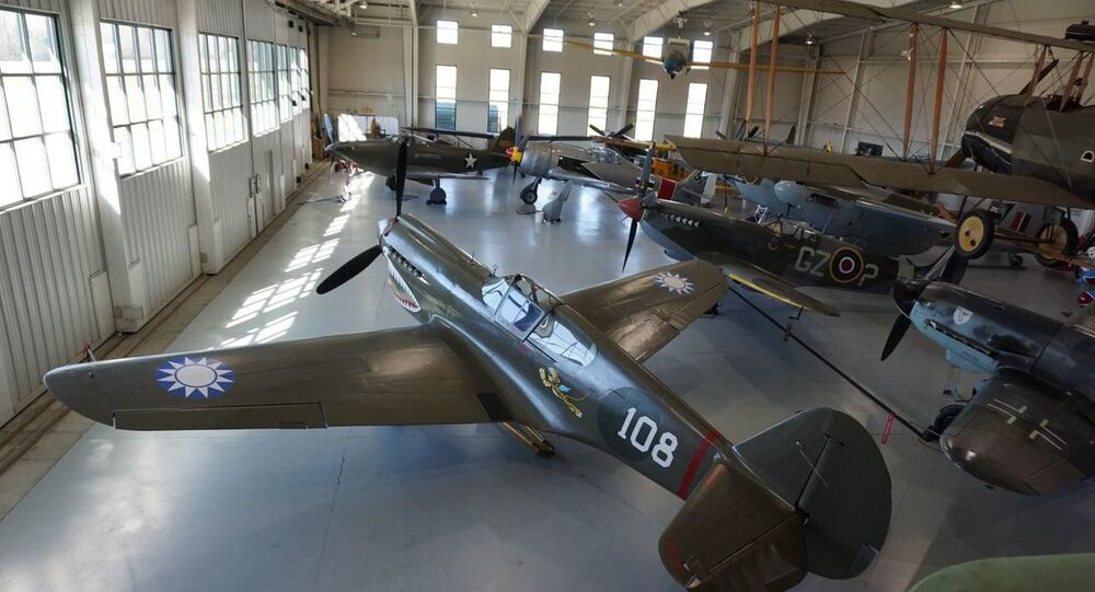 P-40 WWII fighter found in Russia and restored in the US to flyable condition