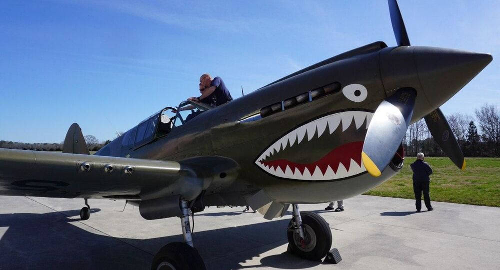 P-40 WWII fighter found in Russia and restored in the US to flyable condition.