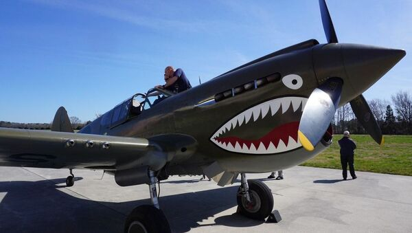 P-40 WWII fighter found in Russia and restored in the US to flyable condition. - Sputnik International