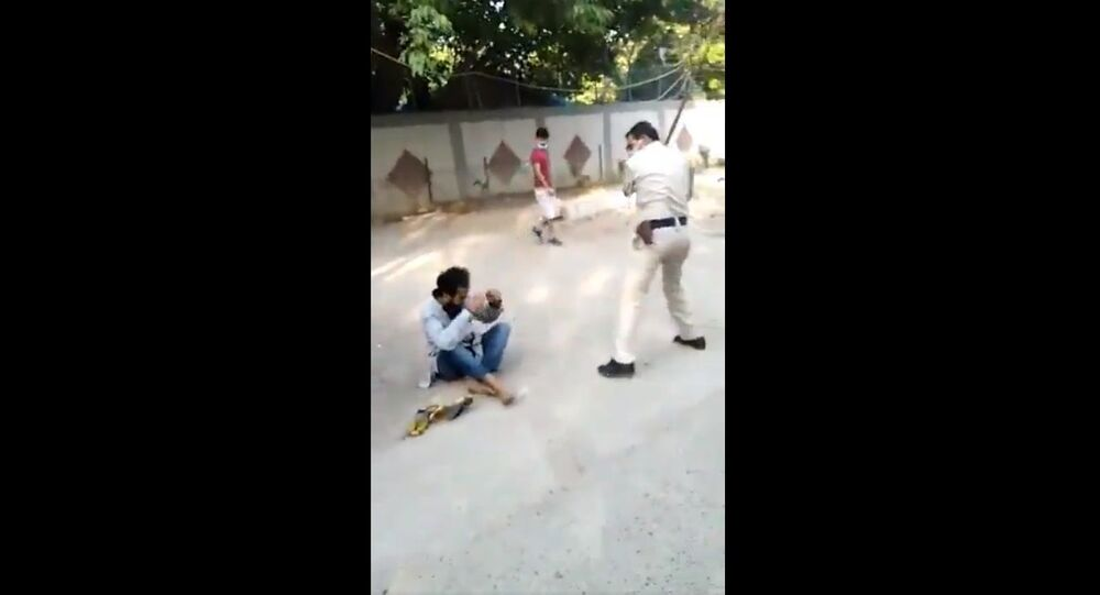 Dramatic visuals have been recovered from South West Delhi's Sagarpur area where a man was forcefully hugging others