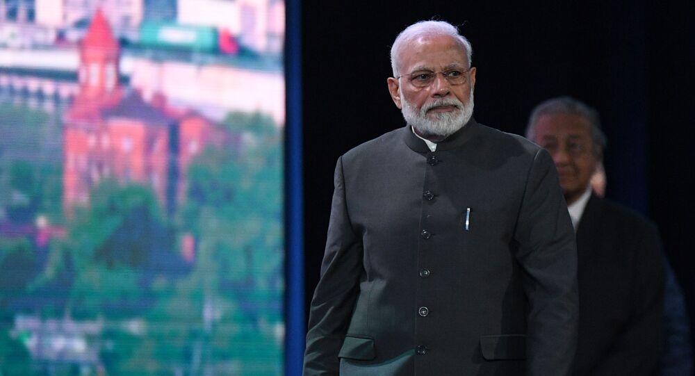Indian Prime Minister Narendra Modi in Russia