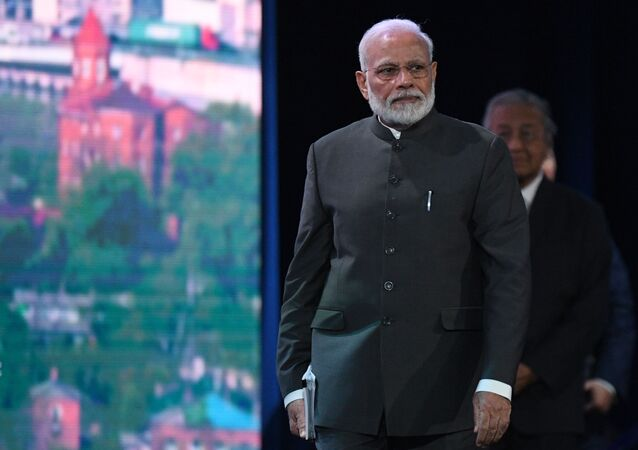 Indian Prime Minister Narendra Modi in Russia