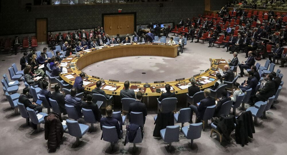 Members of the United Nations Security Council, with visiting German Foreign Minister Heiko Maas, convene a meeting on the nuclear non-proliferation treaty, Wednesday, Feb. 26, 2020, at U.N. headquarters