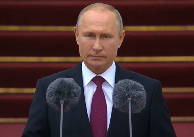 Vladimir Putin Addressing Presidential Regiment