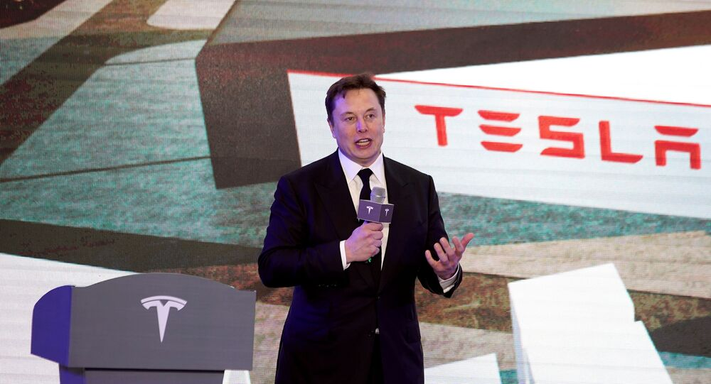 Tesla Inc CEO Elon Musk speaks at an opening ceremony for Tesla China-made Model Y program in Shanghai, China January 7, 2020