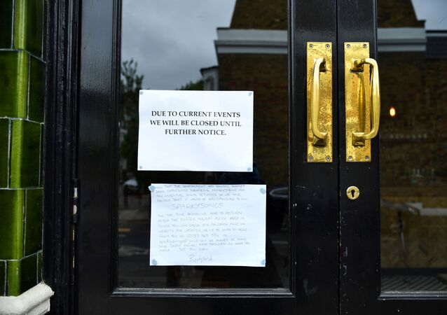 A sign is seen outside The Prince, a pub friends Dominic Townsend and Steve Pond share an apartment above and say are lucky enough to be stuck in during lockdown as the coronavirus disease (COVID-19) continues in London, Britain April 28, 2020. Picture taken April 28, 2020.