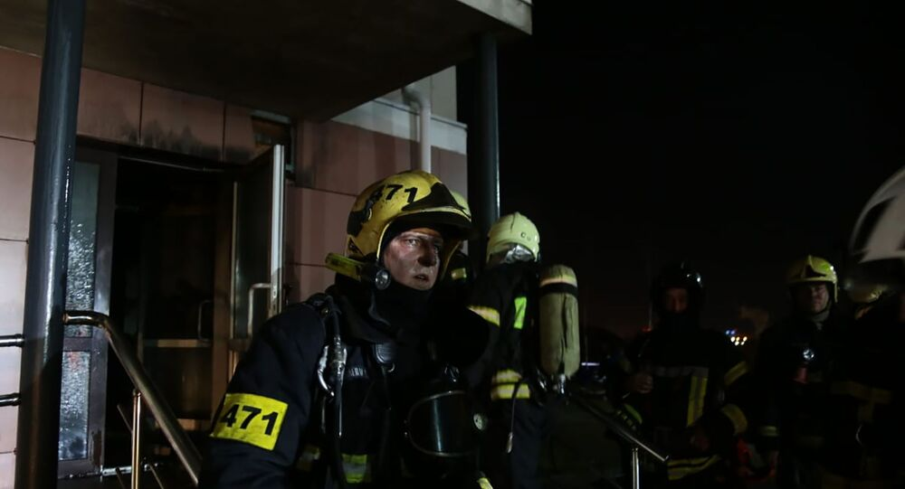 Fire in Moscow hospice, 13 April 2020
