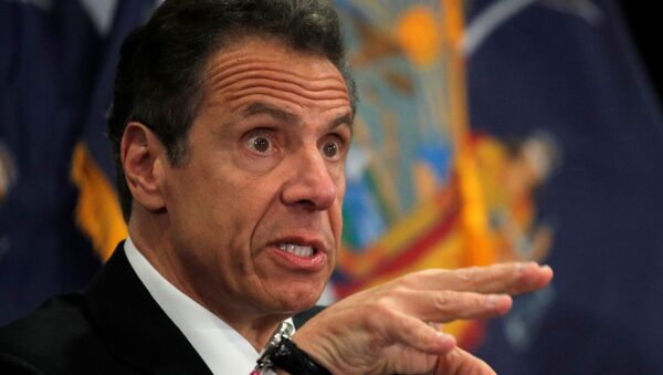 New York Governor Andrew Cuomo speaks at a daily briefing at North Shore University Hospital, during the outbreak of the coronavirus disease (COVID-19) in Manhasset, New York, U.S., May 6, 2020. - Sputnik International