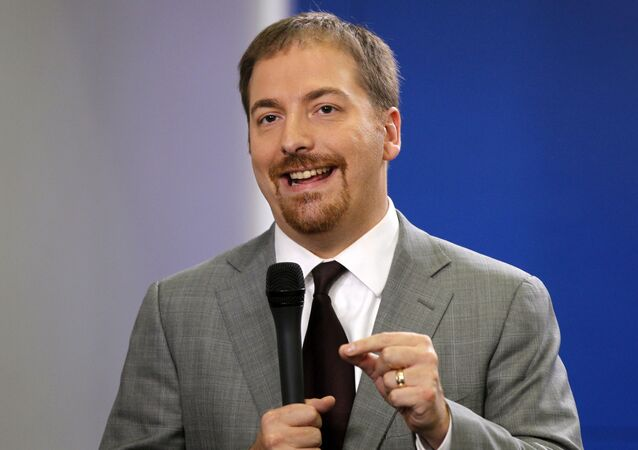 In this 29 October 2010, file photo, Chuck Todd, of NBC News, speaks at the White House in Washington.