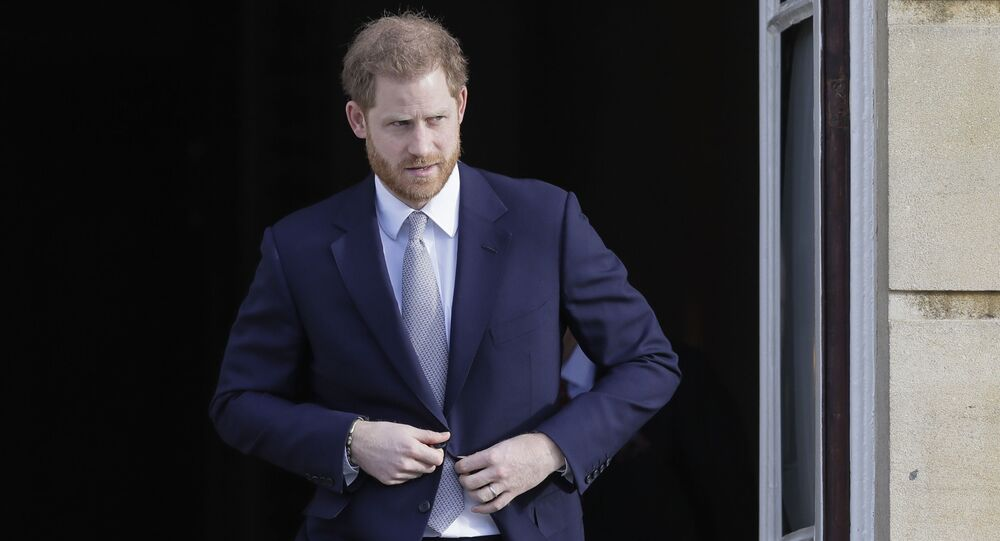 Britain's Prince Harry arrives at the gardens at Buckingham Palace in London, Thursday, 16 January 2020