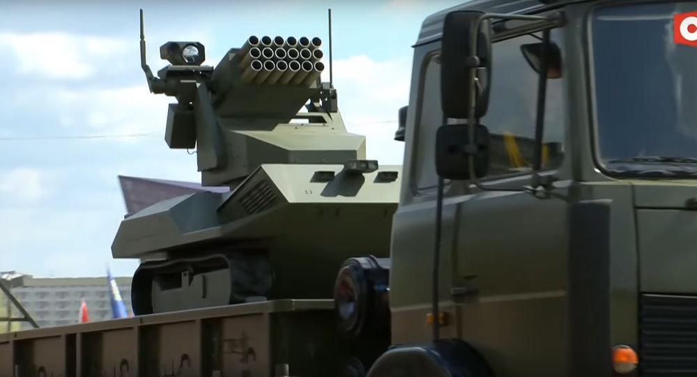 'Vistl' artillery drone. Screenshot from Belarusian television.