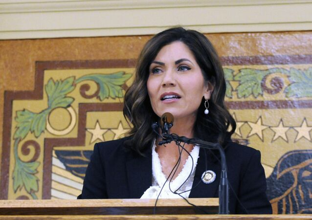 South Dakota Governor Kristi Noem, who had clashed with the state's Native American tribes on several occasions.