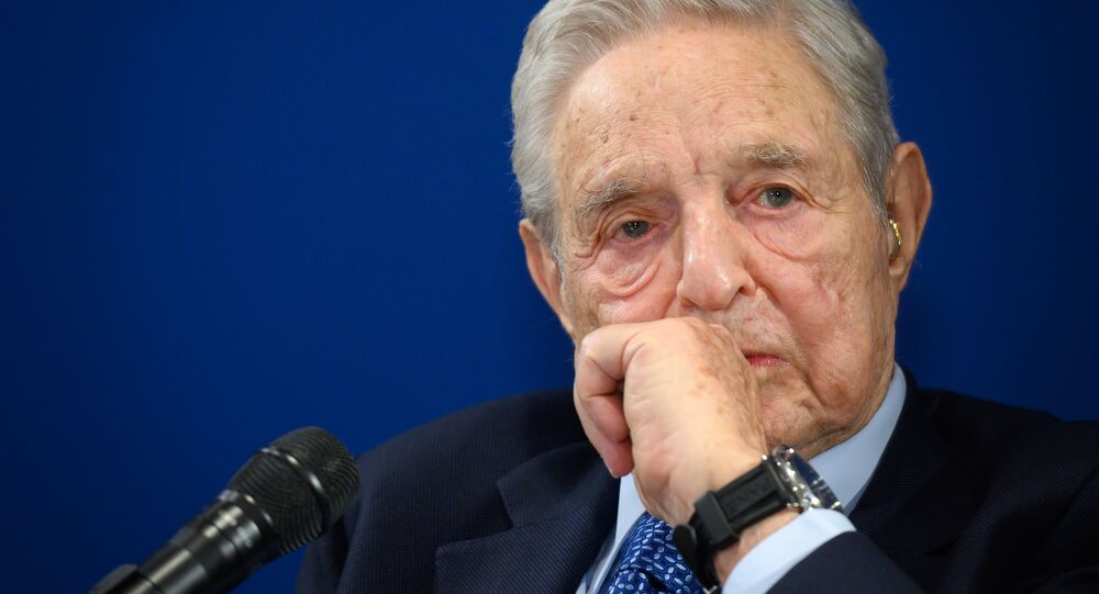 Hungarian-born US investor and philanthropist George Soros looks on during a speech on the sidelines of the World Economic Forum (WEF) annual meeting, on January 23, 2020 in Davos, eastern Switzerland.