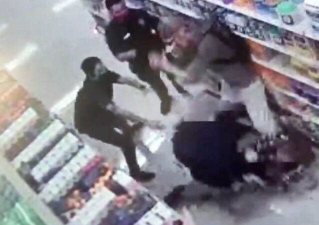 Brawl breaks out at Target store in Van Nuys, California, after shoppers are escorted from establishment for not wearing county-mandated face masks.
