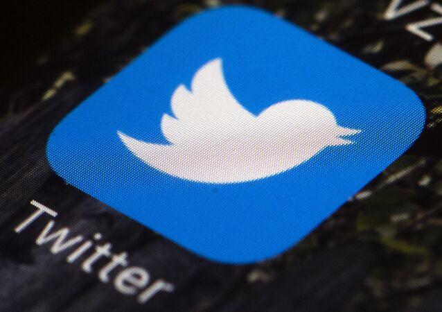Twitter app icon on a mobile phone in Philadelphia