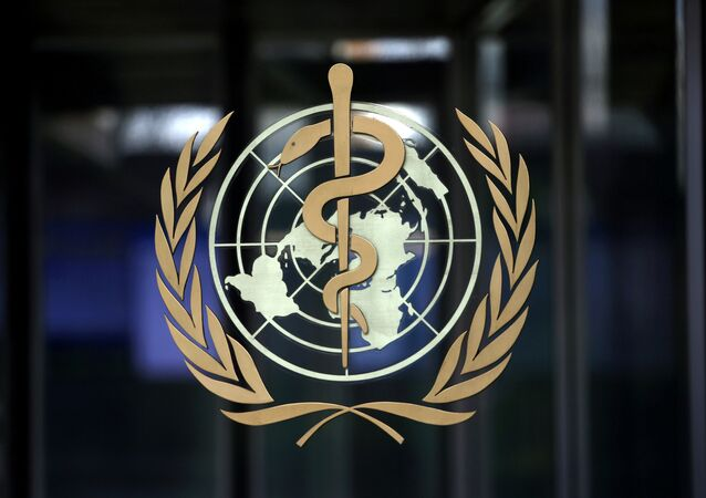 A logo is pictured on the headquarters of the World Health Organization (WHO) ahead of a meeting of the Emergency Committee on the novel coronavirus in Geneva, Switzerland, January 30, 2020.