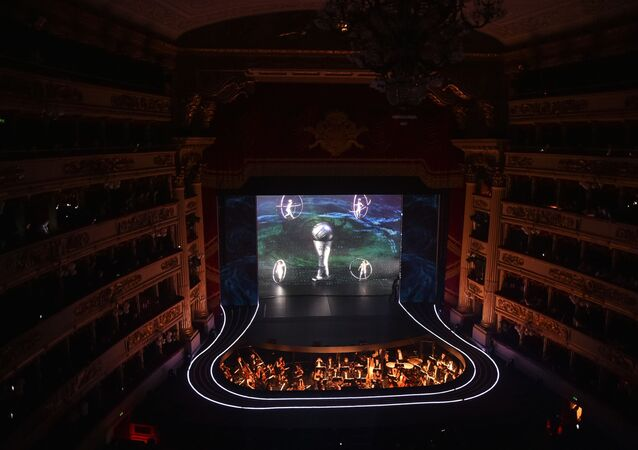 A general view shows dancers performing at Teatro alla Scala during The Best FIFA Football Awards ceremony, on September 23, 2019 in Milan.