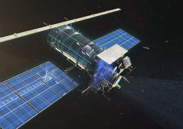 Meteor-M satellite. Rendering provided by Russian Space Systems JSC.