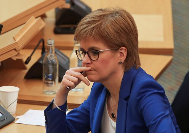 Scotland's First Minister Nicola Sturgeon attends the First Ministers Questions, amid the coronavirus disease (COVID-19) outbreak