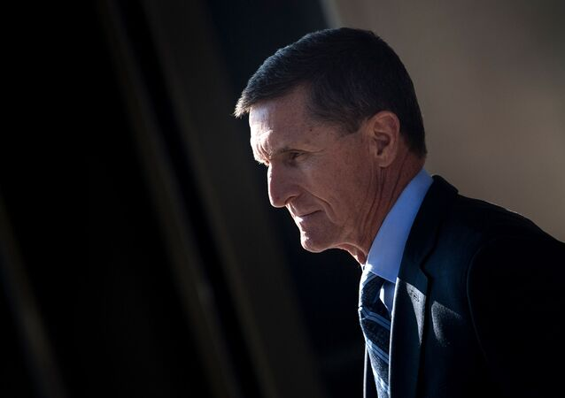 In this file photo taken on December 01, 2017 Gen. Michael Flynn, former national security adviser to US President Donald Trump, leaves Federal Court in Washington, DC