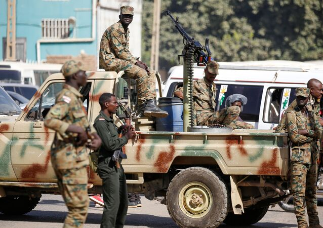 Sudanese security forces in the capital Khartoum