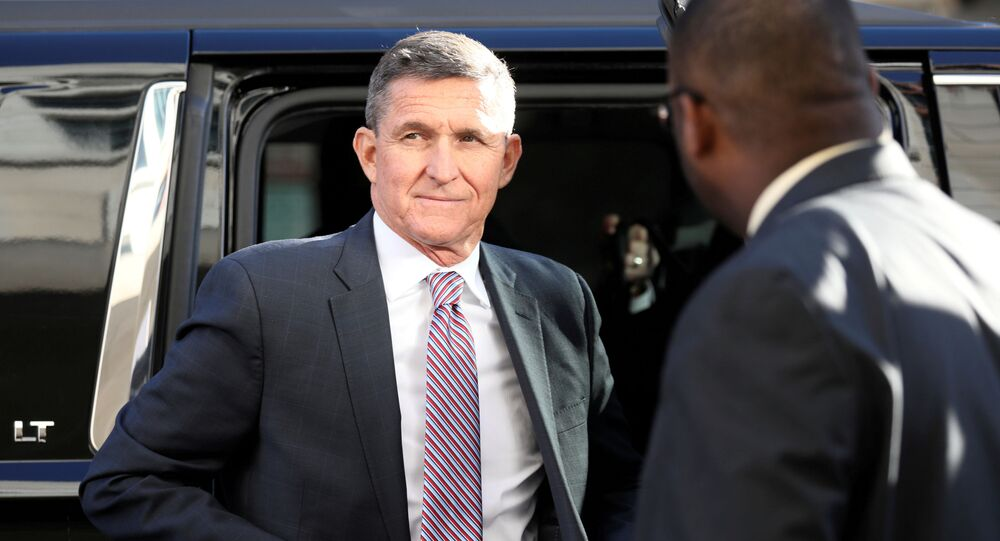Former national security adviser Flynn arrives for sentencing hearing at U.S. District Court in Washington