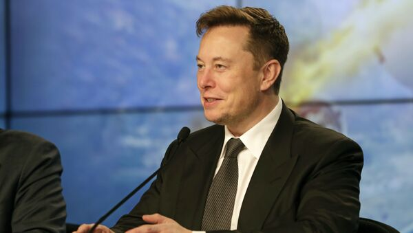 Elon Musk, founder, CEO, and chief engineer/designer of SpaceX speaks during a news conference after a Falcon 9 SpaceX rocket test flight to demonstrate the capsule's emergency escape system at the Kennedy Space Center in Cape Canaveral, Florida, 19 January 2020 - Sputnik International
