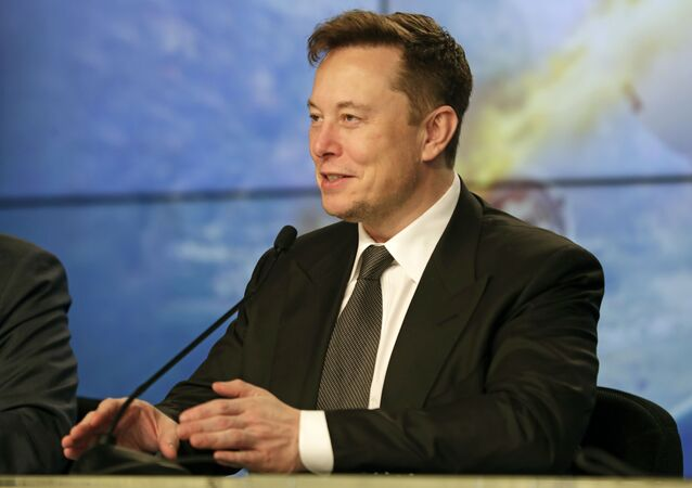 Elon Musk, founder, CEO, and chief engineer/designer of SpaceX speaks during a news conference after a Falcon 9 SpaceX rocket test flight to demonstrate the capsule's emergency escape system at the Kennedy Space Center in Cape Canaveral, Florida, 19 January 2020