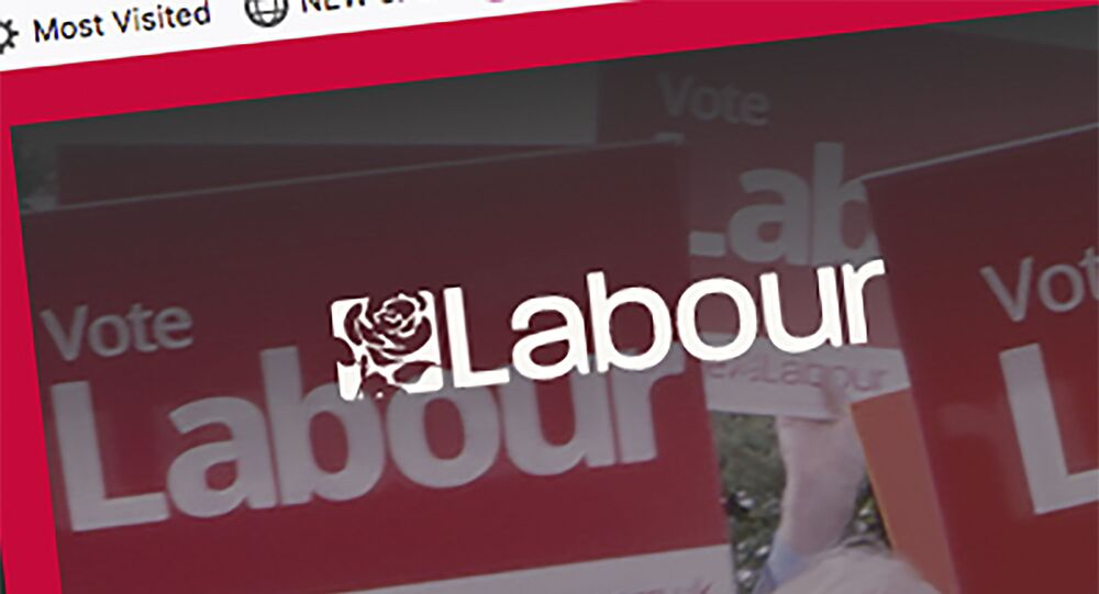 Screen-grab taken from Britain's Labour Party internet site showing the party logo Tuesday Nov. 12, 2019.