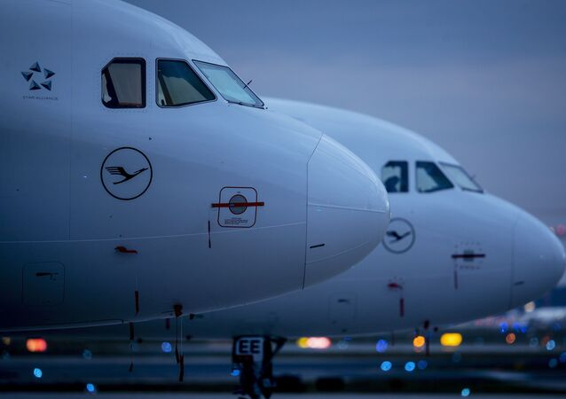 Aircrafts of German Lufthansa airline are parked at the airport in Frankfurt, Germany, Monday, May 4, 2020