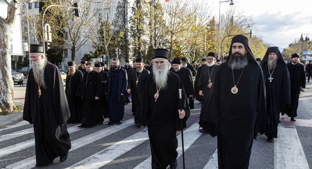 Serbian Orthodox Church clergy in Montenegro in Podgorica