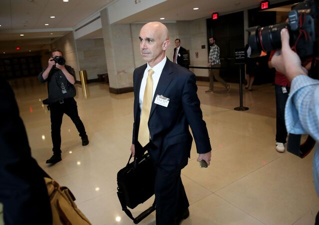 WASHINGTON, DC - OCTOBER 02: U.S. State Department Inspector General Steve Linick departs the U.S. Capitol October 02, 2019 in Washington, DC. Linick reportedly met with congressional officials to brief them on information related to the impeachment inquiry centered around U.S. President Donald Trump.
