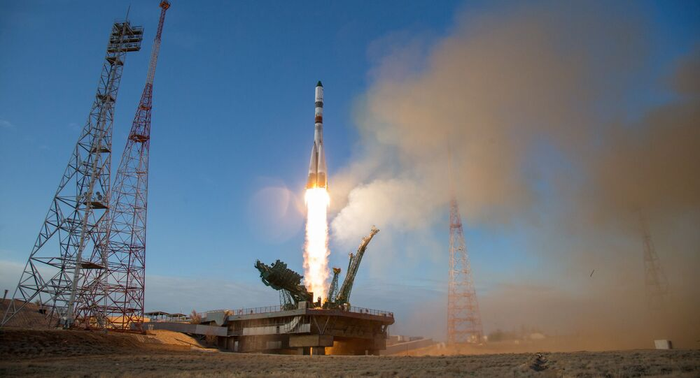 The Rocket of Victory with the Progress MS-14 cargo spacecraft