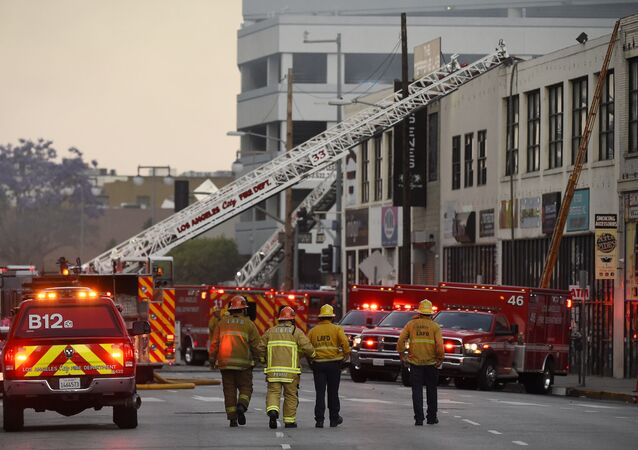 Los Angeles Fire Department firefighters