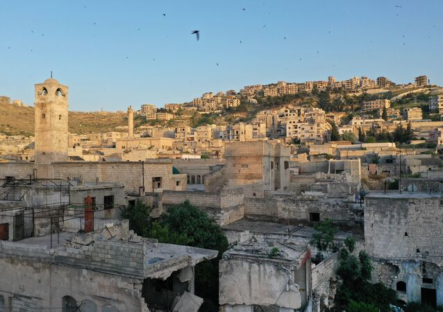 The town of Ariha in the southern countryside of Syria's Idlib province