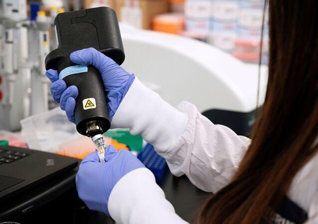 A scientist at RNA medicines company Arcturus Therapeutics research a vaccine for the novel coronavirus (COVID-19) at a laboratory in San Diego, California, U.S., March 17, 2020
