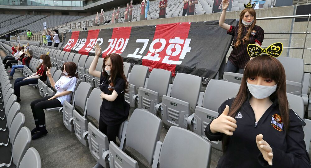 Korean soccer club apologizes for putting sex dolls in seats