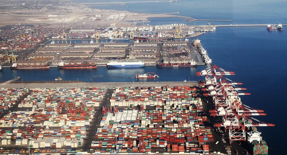 Port of Shahid Rajaee, in the coastal city of Bandar Abbas, Iran.