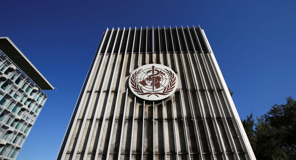 The headquarters of the World Health Organization (WHO) are pictured during the World Health Assembly (WHA) following the outbreak of the coronavirus disease (COVID-19) in Geneva, Switzerland, May 18, 2020