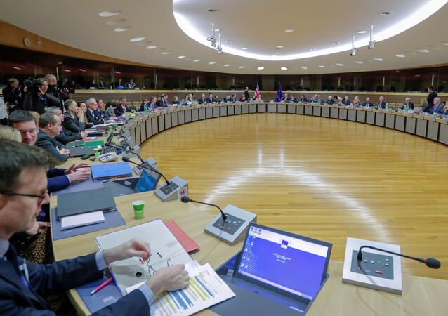 Start of the first round of post-Brexit trade deal talks between the EU and the United Kingdom, in Brussels, Belgium March 2, 2020.
